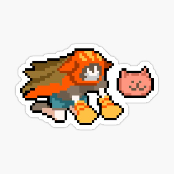Gin Ibushi Pixel Art Sticker