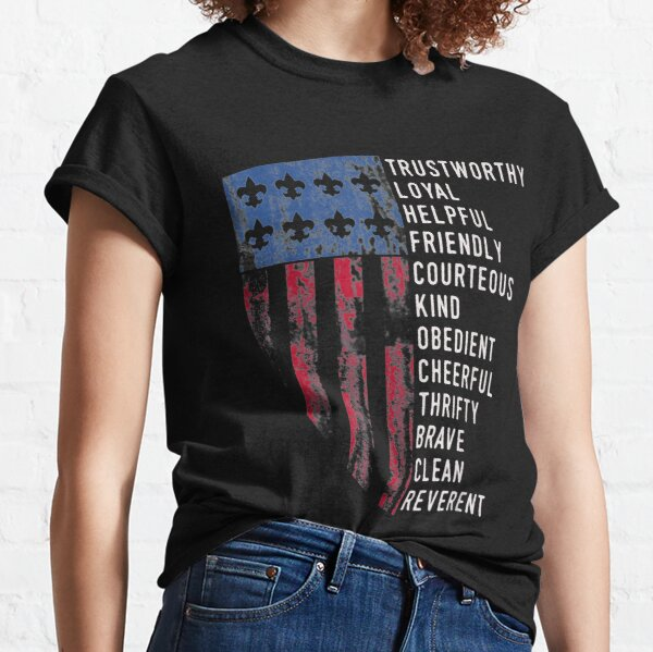 Vintage Scout Law | US America Flag Scouting Law Classic T-Shirt