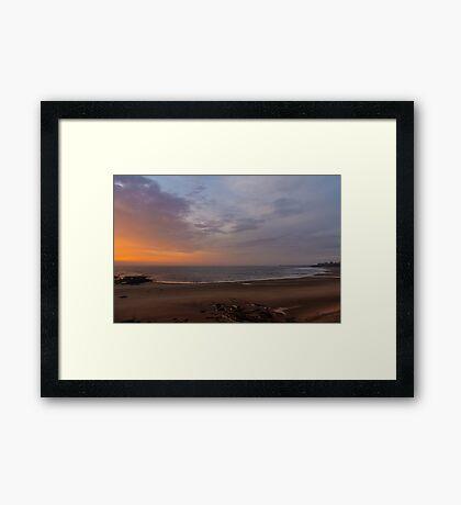 Dawn on Tynemouth Beach Framed Print