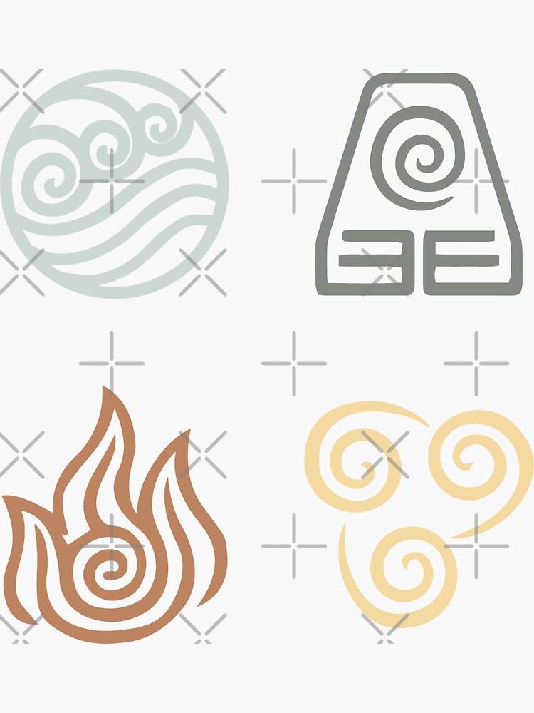 Avatar Nation Symbols Sticker Pack by stacialexander