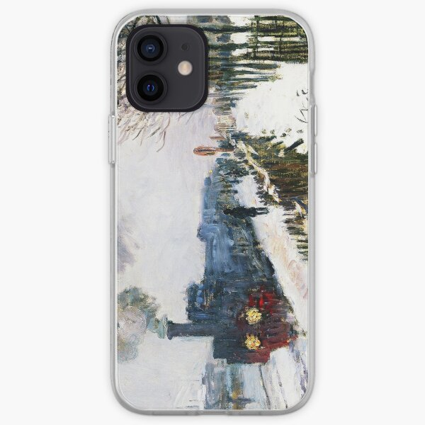 HIGH RESOLUTION The Train in the Snow Claude Monet iPhone Soft Case