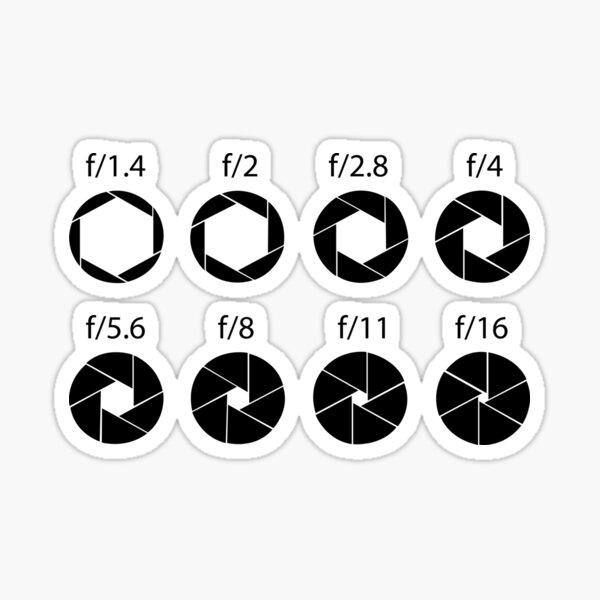 F-stops - Black Sticker