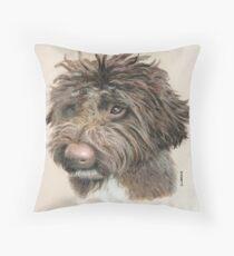 Teddie the little Lagotto Throw Pillow