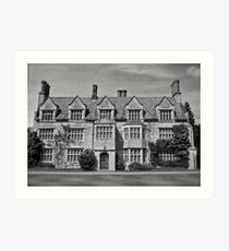 Anglesey Abbey, Black and White Art Print
