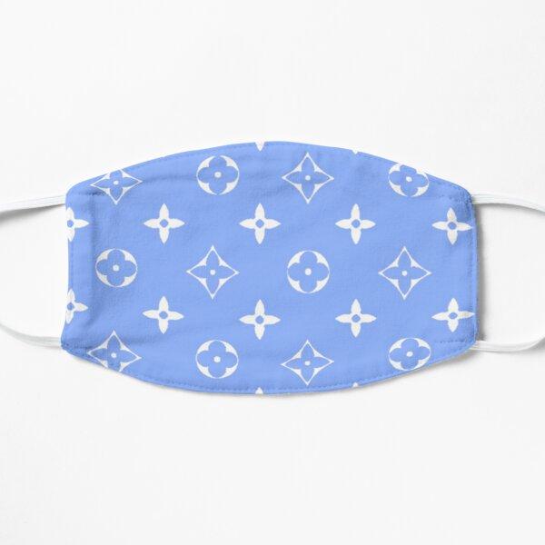 Light blue Y2K designer print Mask