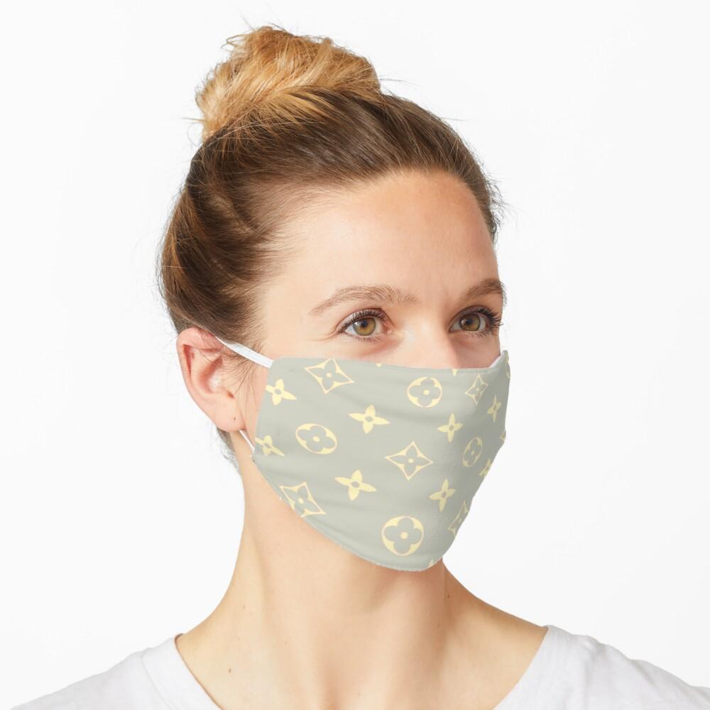 Beige 2000s Y2K designer print Mask
