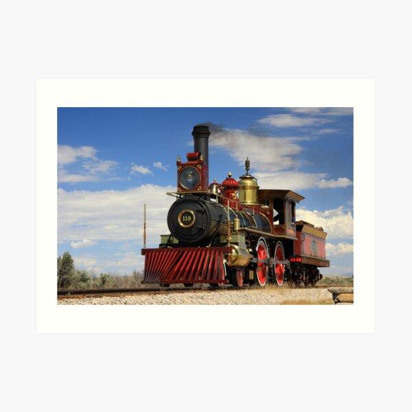 "Steam locomotives ""119"" Art Print"