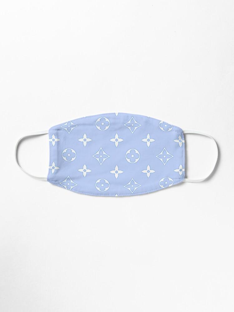 Alternate view of Baby Blue 2000s Y2K designer print Mask