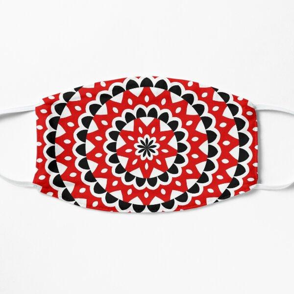 Red Black White Kaleidoscope Pattern Mask