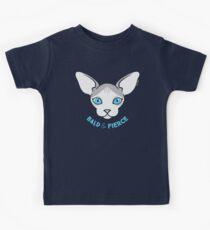 Sphynx Katze - Bald & Fierce Kinder T-Shirt