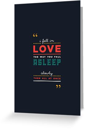 GREETING CARDS - 'The fault in our stars' by John Green by punktkomma