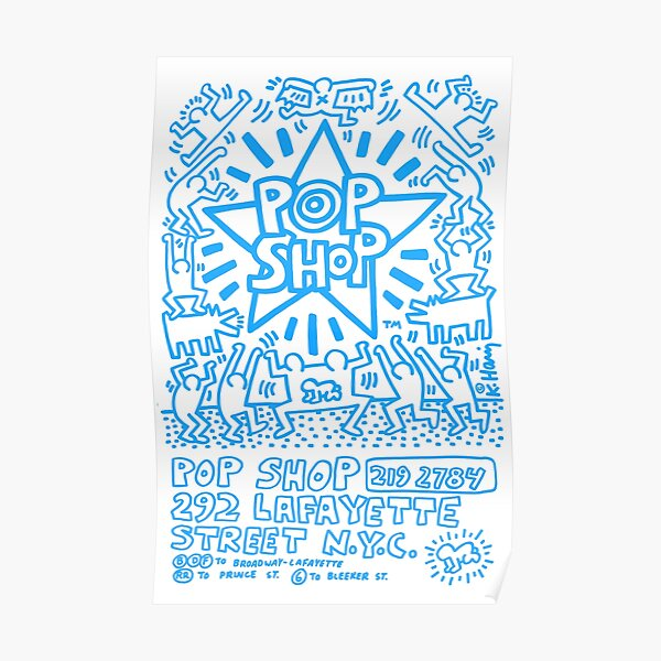 Keith Haring New York Pop Shop Poster Poster