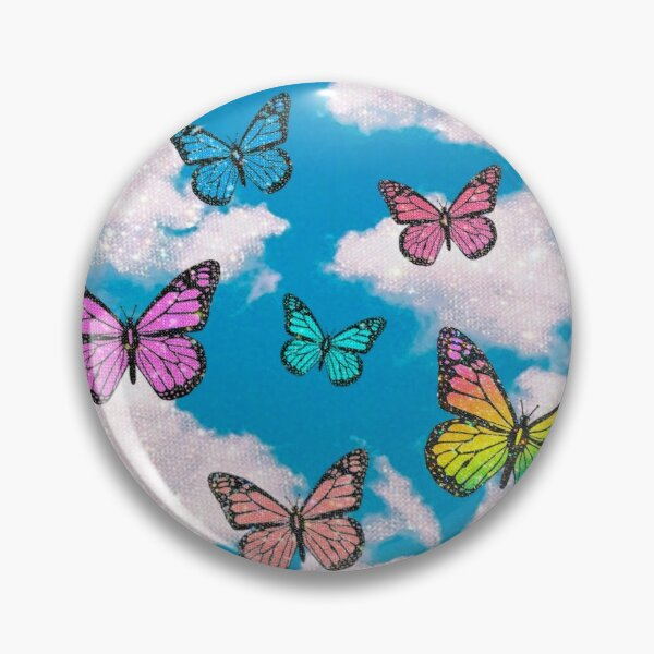 cloudy butterfly pattern Pin