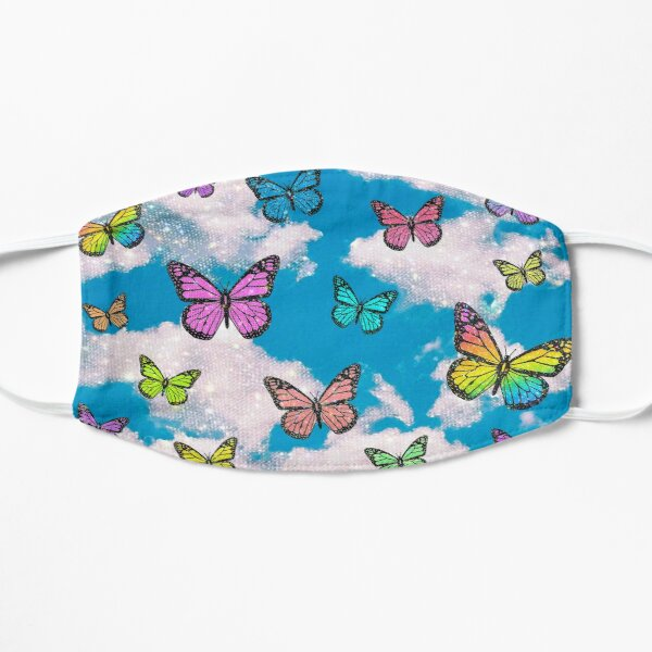 cloudy butterfly pattern Mask