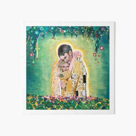Cold War Film, Gustav Klimt Style Art Board Print