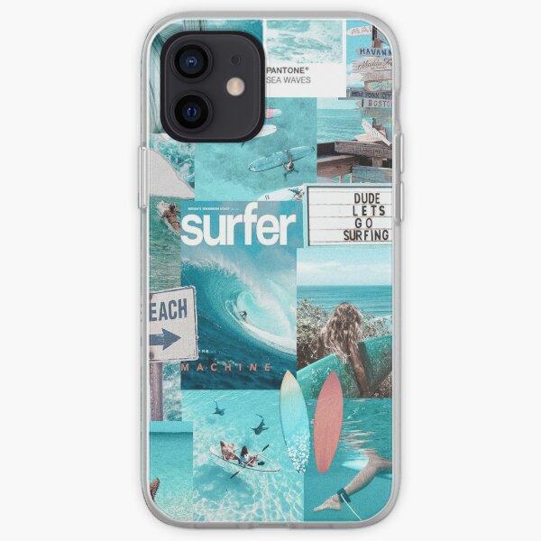 SURF DREAMS VSCO COLLAGE Coque souple iPhone