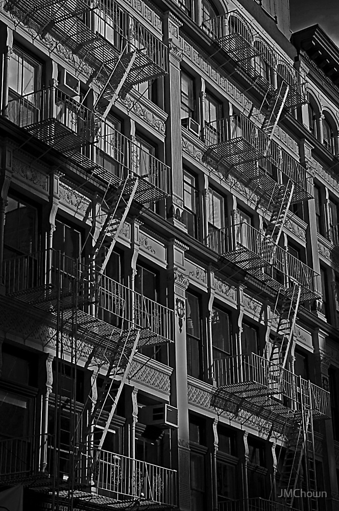 Soho Fire Escapes, New York by JMChown