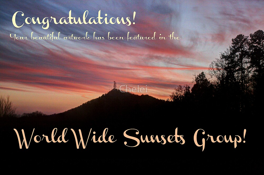 Currahee Mountain Sunset Banner by Chelei