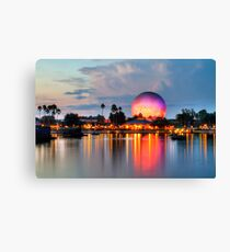 Dusk Descends on EPCOT Canvas Print