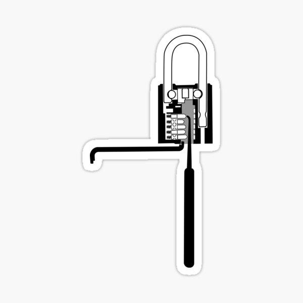 Lock Pick Padlock Sticker