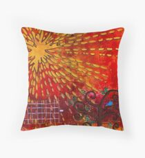 Looking for Mrs. Bluebird Throw Pillow