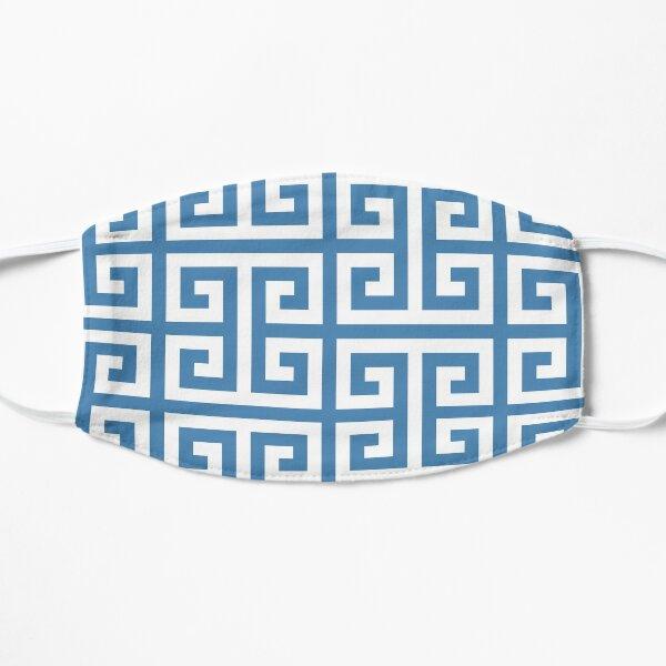 White and Steel Blue Greek Key Mask