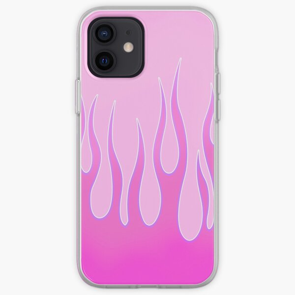 pink tribal y2k flames iPhone Soft Case