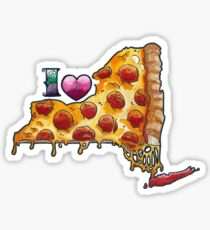 I Love NY Pizza Sticker
