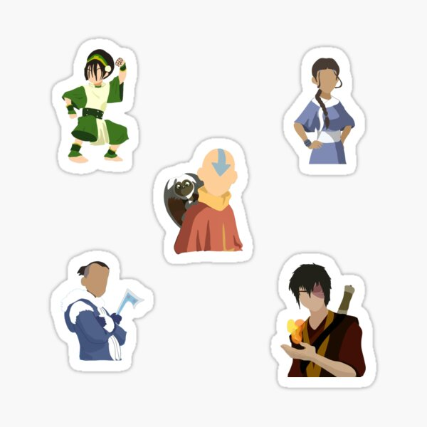 Avatar the Last Airbender Characters Set Sticker