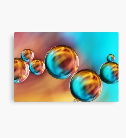 Techno-coloured Bubble Abstract Canvas Print