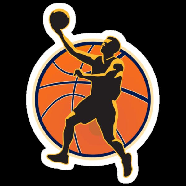 Basketball Player Lay Up Ball by patrimonio