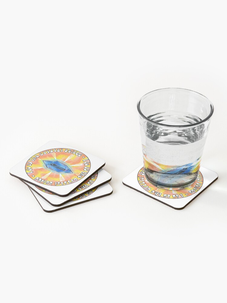 """Alternate view of """"I Do As The Crystal Guides"""" Death Crystal from Rick and Morty™ Coasters (Set of 4)"""