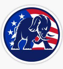 Republican Elephant Mascot USA Flag Sticker