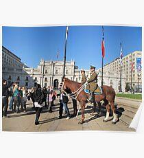 Guards on horseback. Poster