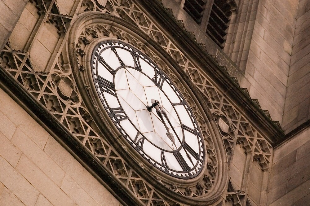 Manchester Cathedral clock by Darren Taylor