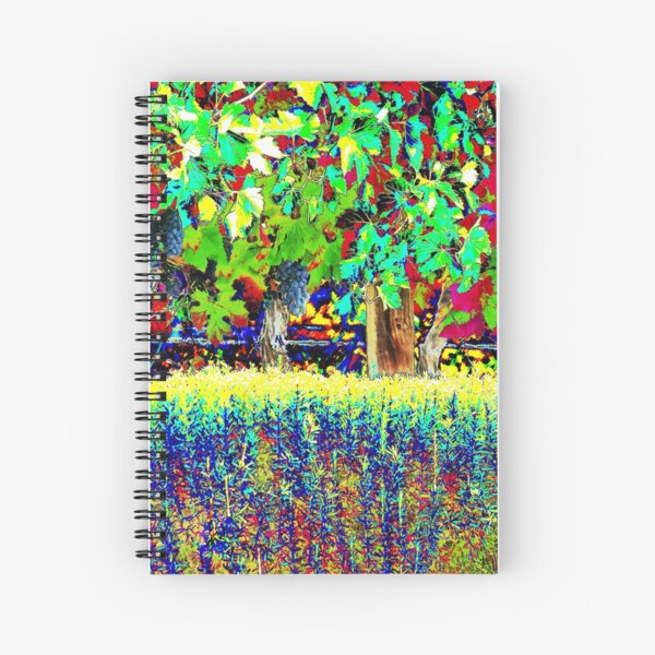 Vineyard Art, Colourful Graphic Spiral Notebook
