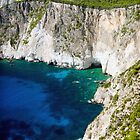 Cliffs at Keri, Zakynthos, Greece by Giles Clare