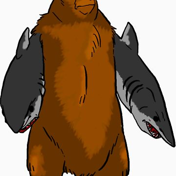 Bear with Shark Arms! - Large by spud-17