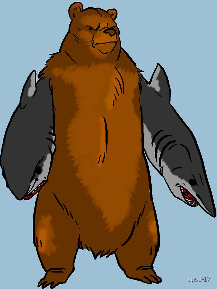 Bear with Shark Arms! - Large | Unisex T-Shirt