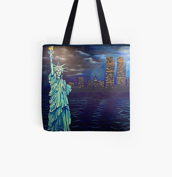 God Bless America All Over Print Tote Bag