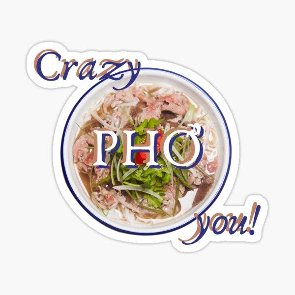 crazy pho you vietnamese traditional pho Sticker