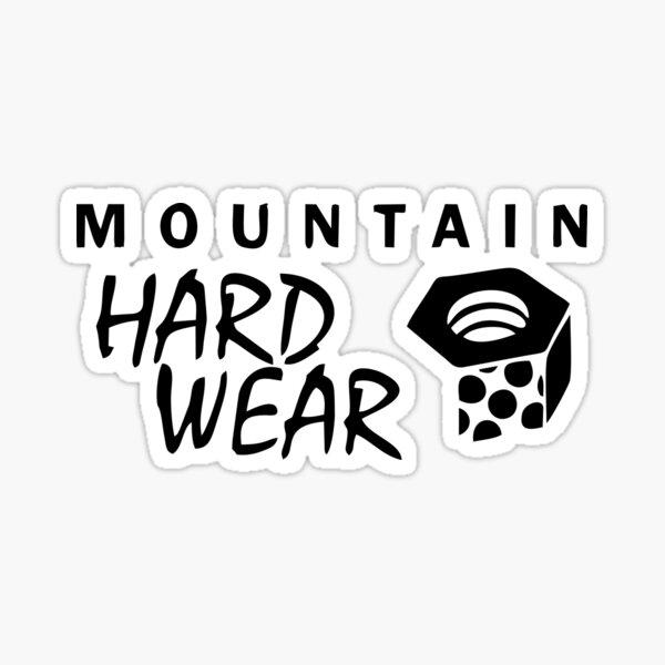 White//Black original genuine NEW Mountain Hardwear logo sticker decal