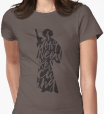 Don't Rescue Me Womens Fitted T-Shirt