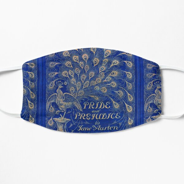 Pride and Prejudice, 1894 Peacock Cover in Blue Flat Mask