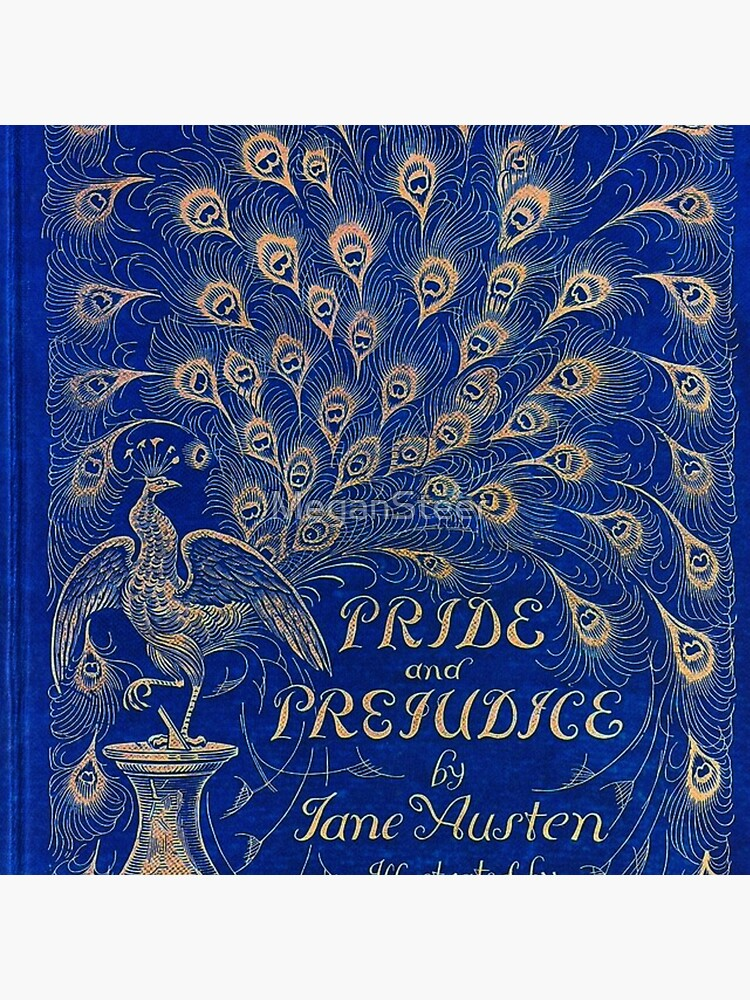 Pride and Prejudice, 1894 Peacock Cover in Blue by MeganSteer