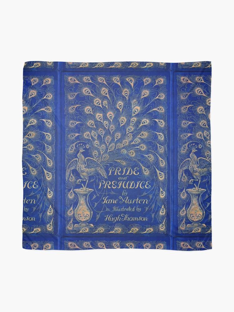 Alternate view of Pride and Prejudice, 1894 Peacock Cover in Blue Scarf