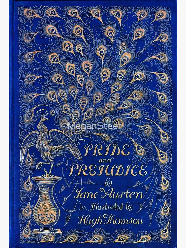 Pride and Prejudice, 1894 Peacock Cover in Blue by MeganSteer