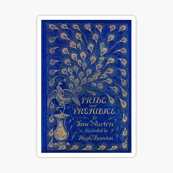 Pride and Prejudice, 1894 Peacock Cover in Blue Sticker