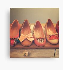 Vintage Shoes and Heels  Canvas Print
