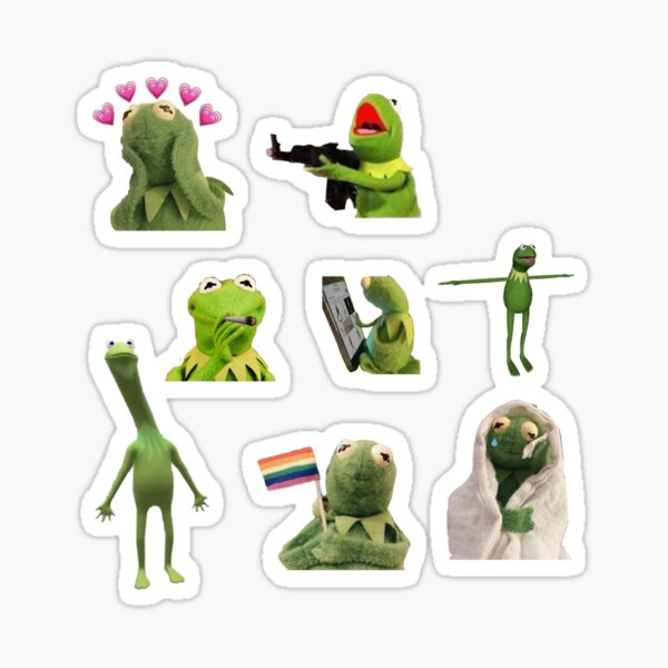 Kermit meme sticker set Sticker